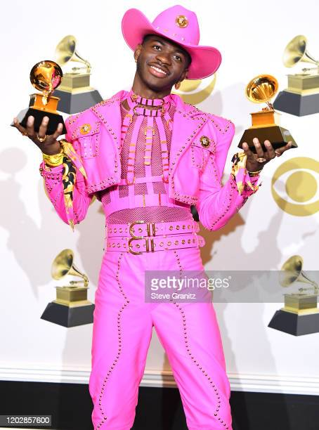 Lil Nas X poses at the 62nd Annual GRAMMY Awards at Staples Center on January 26 2020 in Los Angeles California