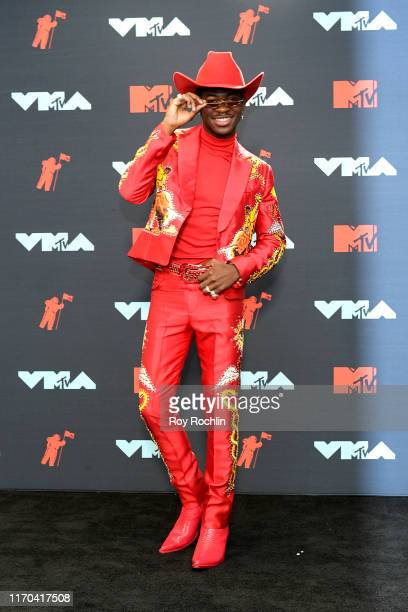 Lil Nas X poses in the Press Room during the 2019 MTV Video Music Awards at Prudential Center on August 26 2019 in Newark New Jersey