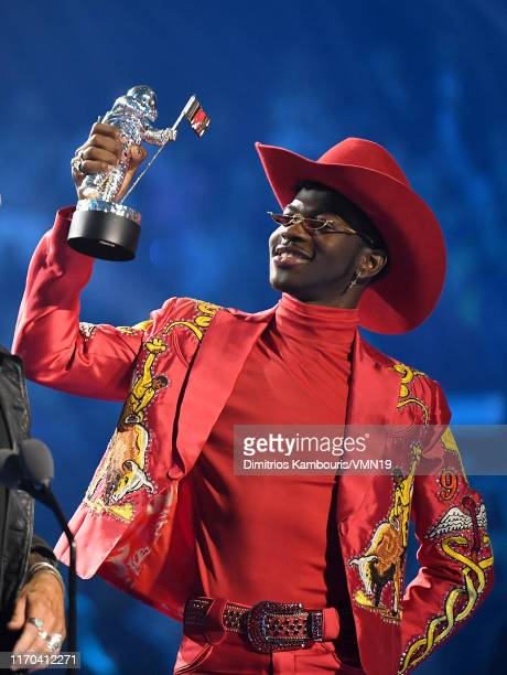 Lil Nas X receives 'Song of the Year' award onstage during the 2019 MTV Video Music Awards at Prudential Center on August 26 2019 in Newark New Jersey