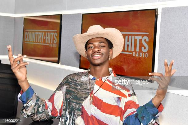 Lil Nas X visits the Country Hits Radio studios on July 04 2019 in London England