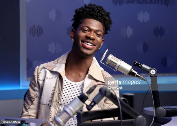 Lil Nas X visits the SiriusXM Studios on September 14, 2021 in New York City.
