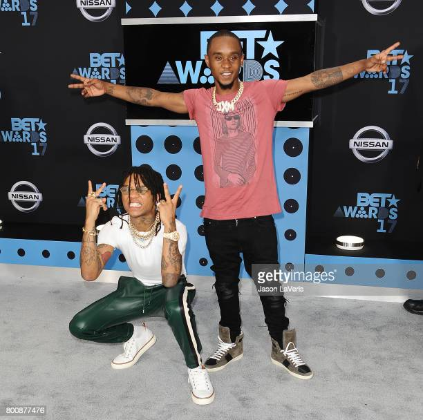 Lil Pantz and BoBo Swae of Rae Sremmurd attend the 2017 BET Awards at Microsoft Theater on June 25 2017 in Los Angeles California
