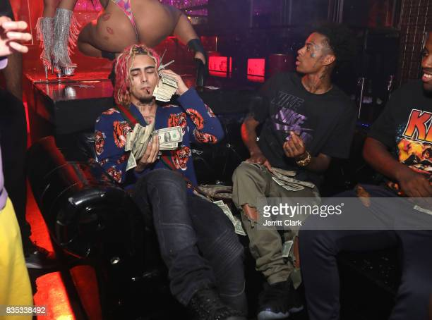 Lil Pump and Boonk celebrate Lil Pump's 17th Birthday Party at Ace Of Diamonds on August 17 2017 in West Hollywood California