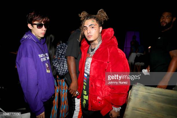 Lil Pump and guest are seen backstage during the BET Hip Hop Awards 2018 at Fillmore Miami Beach on October 6 2018 in Miami Beach Florida