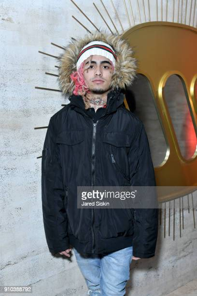 Lil Pump attends the Warner Music Group PreGrammy Party in association with V Magazine on January 25 2018 in New York City