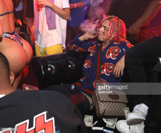 Lil Pump celebrates his 17th Birthday Party at Ace Of Diamonds on August 17 2017 in West Hollywood California