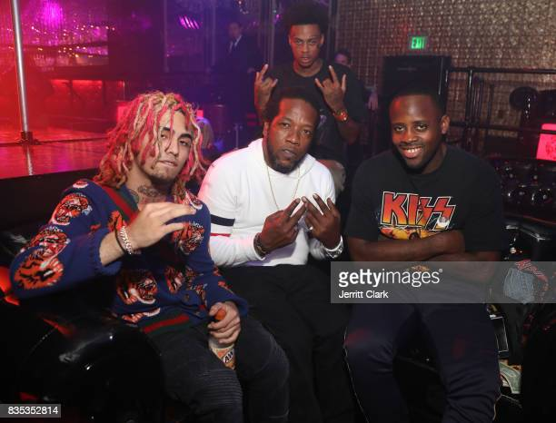 Lil Pump celebrates his 17th Birthday with friends at Ace Of Diamonds on August 17 2017 in West Hollywood California