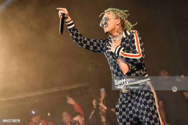 Lil Pump headlines the Pepsi Max stage on Day 3 of Wireless Festival 2018 at Finsbury Park on July 8 2018 in London England