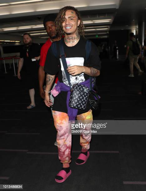 Lil Pump is seen on August 8 2018 in Los Angeles CA
