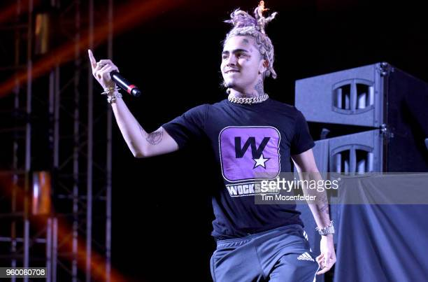 Lil Pump performs during the 2018 Hangout Festival on May 18 2018 in Gulf Shores Alabama