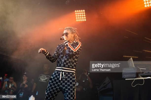 Lil Pump performs during Wireless Festival 2018 at Finsbury Park on July 8th 2018 in London England