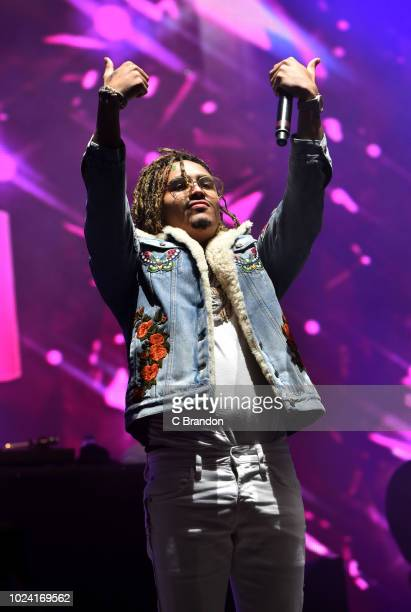 Lil Pump performs on stage at the Reading Festival at Richfield Avenue on August 26 2018 in Reading England