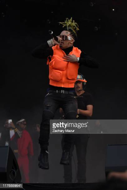 Lil Pump performs onstage during Day 1 of the 2019 Rolling Loud Festival at Citi Field on October 12 2019 in New York City