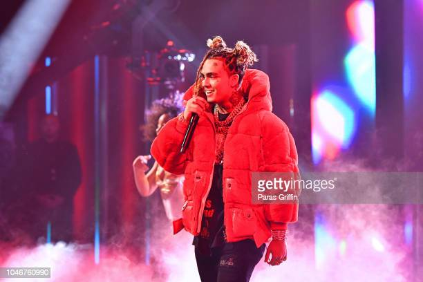 Lil Pump performs onstage during the BET Hip Hop Awards 2018 at Fillmore Miami Beach on October 6 2018 in Miami Beach Florida