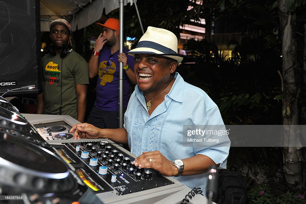 DJ Lil Ray spins during Winter Music Conference 2013 on March 21, 2013 in Miami Beach, Florida.