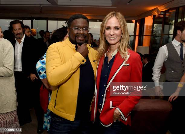 Lil Rel Howery and Fox CEO Dana Walden attend the FOX Summer TCA 2018 AllStar Party at Soho House on August 2 2018 in West Hollywood California