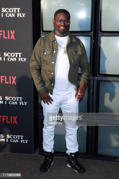"Lil Rel Howery attends the premiere of Netflix's ""Travis Scott: Look Mom I Can Fly"" at Barker Hangar on August 27, 2019 in Santa Monica, California."