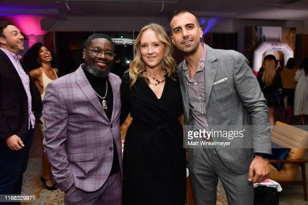 Lil Rel Howery Jennifer Salke and Paul Downs Colaizzo attend the premiere of Amazon Studios' Brittany Runs A Marathon on August 15 2019 in Los...
