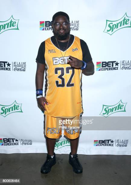 Lil Rel Howery poses backstage at the Celebrity Basketball Game presented by Sprite and State Farm during the 2017 BET Experience at Staples Center...