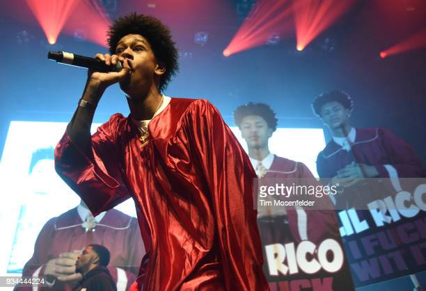 Lil Rico performs during the SXSW Takeover Eardummers Takeover at ACL Live at the Moody Theatre during SXSW 2018 on March 16 2018 in Austin Texas