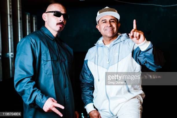 Lil Rob and MC Magic pose for a picture before MC Magic Performs a Secret Show In Southern California at La Santa Modern Cantina on April 7 2019 in...