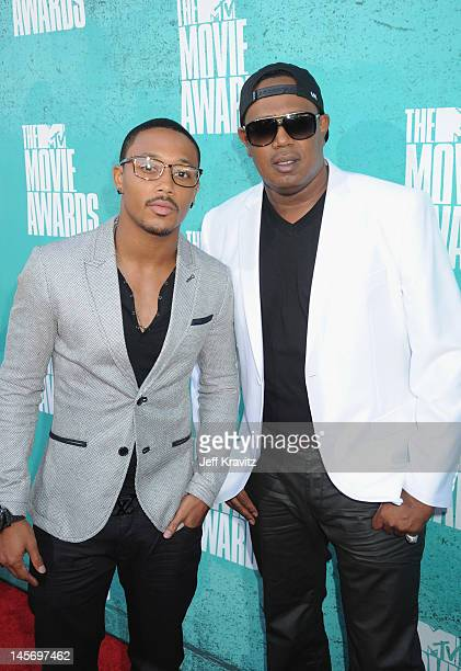 Lil Romeo and Master P arrive at the 2012 MTV Movie Awards held at Gibson Amphitheatre on June 3 2012 in Universal City California