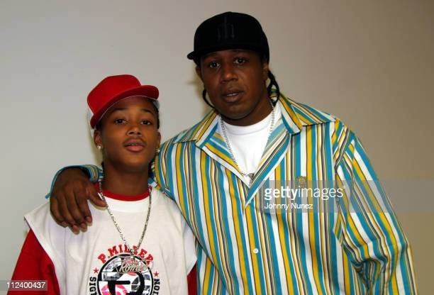 Lil' Romeo and Master P during Lil' Romeo Launches PMiller Shorties Clothing Line at 33rd Street NYC in New York City New York United States