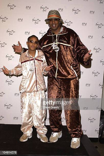 Lil' Romeo and Master P during The 29th Annual American Music Awards - Press Room at The Shrine Auditorium in Los Angeles, California, United States.