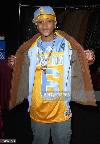Lil Romeo in Wilson's Leather coat during 2002 Billboard Music Awards Backstage Creations Talent Retreat Show Day at MGM Grand Hotel in Las Vegas...