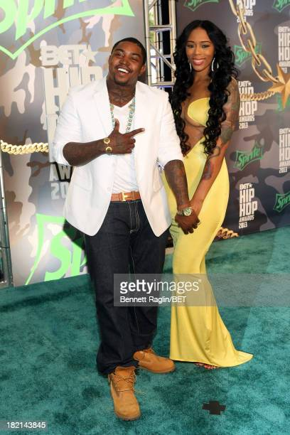 Lil Scrappy and Bambi attend the BET Hip Hop Awards 2013 at Boisfeuillet Jones Atlanta Civic Center on September 28, 2013 in Atlanta, Georgia.