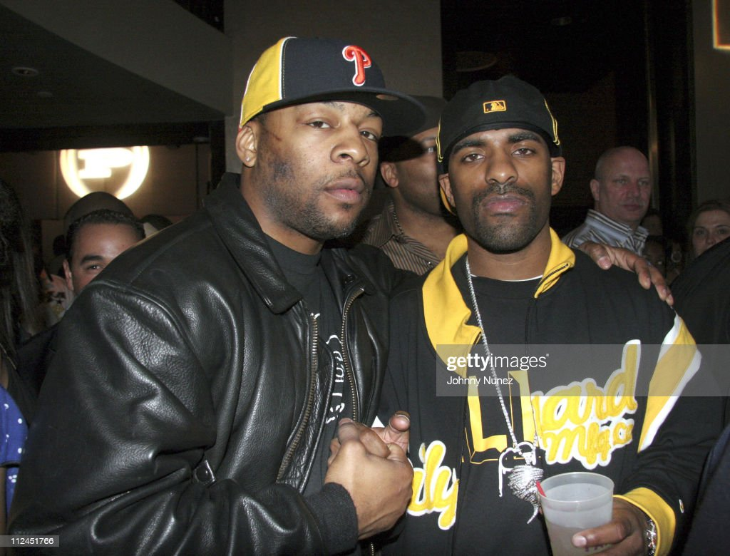 Lil Sean and DJ Clue during Phat Farm Party for Magic 06 - February 22, 2006 at Palm Hotel Hard wood Suite in Las Vegas, Nerevada, United States.