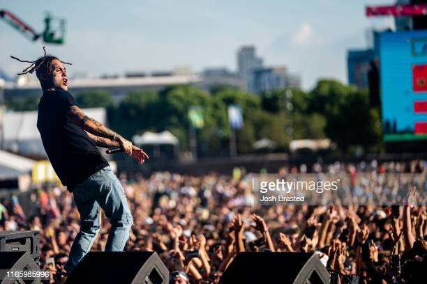 Lil Skies performs at the Lollapalooza Music Festival at Grant Park on August 03 2019 in Chicago Illinois
