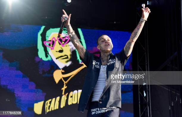 Lil Skies performs during the 2019 Rolling Loud Music Festival at OaklandAlameda County Coliseum on September 28 2019 in Oakland California
