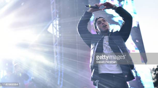 Lil Skies performs live during Rolling Loud music festival at Citi Field on October 13 2019 in New York City