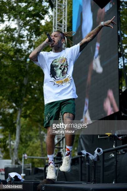 Lil Skies performs onstage during the 2018 Made In America Festival at Benjamin Franklin Parkway on September 2 2018 in Philadelphia Pennsylvania
