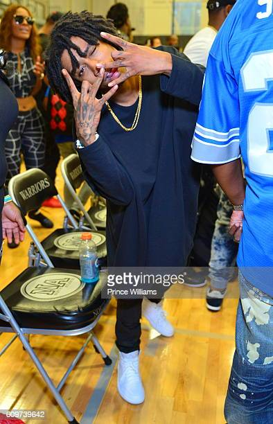 Lil Twist attends The Celebrity Hoops Challenge TRU vs Young Money at North Atlanta High School on September 18 2016 in Atlanta Georgia