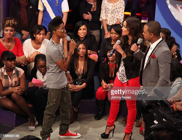 Lil Twist hosts Rocsi Diaz and Terrence J visit BET's 106 Park at BET Studios on February 14 2012 in New York City