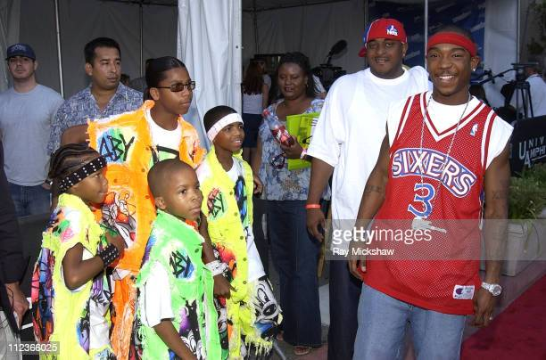 Lil' Tykes and Ja Rule during The 2002 Teen Choice Awards Seventeen Magazine Backstage at Universal Amphitheater in Universal City California United...