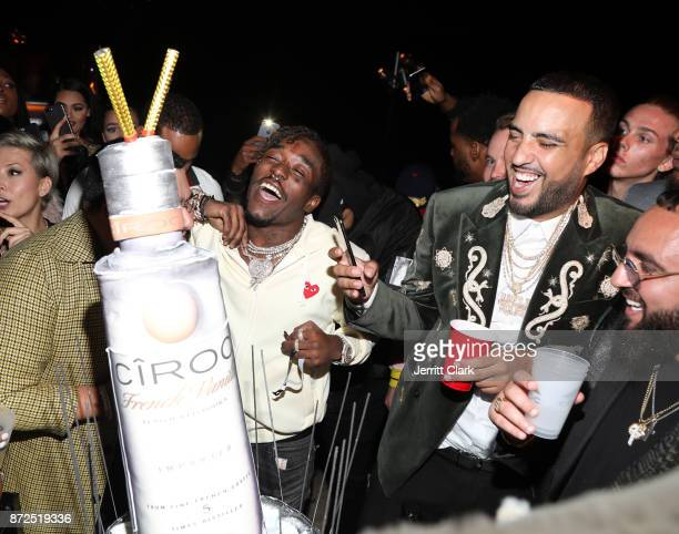 Lil Uzi Vert and French Montana attend the CIROC French Vanilla Birthday Celebration for French Montana on November 9 2017 in Beverly Hills California