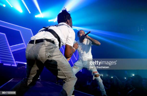 Lil Uzi Vert and G Herbo perform at Spotify's RapCaviar Live in Chicago at Aragon Ballroom on October 20 2017 in Chicago Illinois
