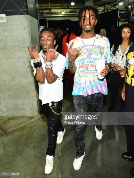 Lil Uzi Vert And Playboi Carti attend the Hot 1079 Birthday Bash at Philips Arena on June 17 2017 in Atlanta Georgia