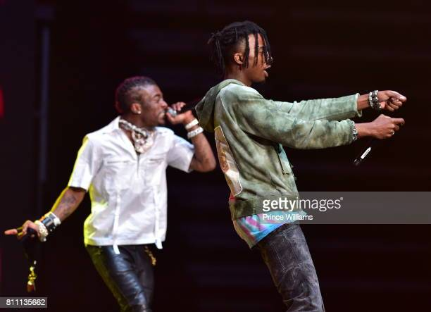Lil Uzi Vert and Playboi Carti perform at the Hot 1079 Birthday Bash at Philips Arena on June 17 2017 in Atlanta Georgia
