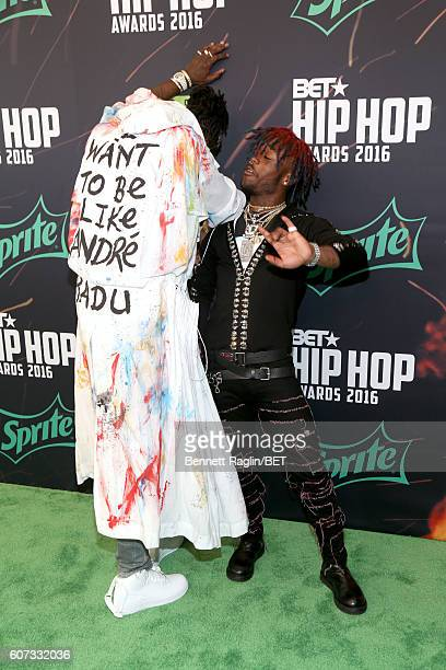 Lil Uzi Vert attends the BET Hip Hop Awards 2016 Green Carpet at Cobb Energy Performing Arts Center on September 17 2016 in Atlanta Georgia