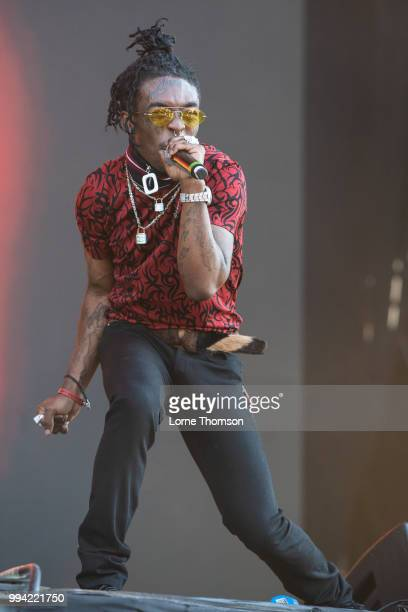Lil Uzi Vert performs during Wireless Festival 2018 at Finsbury Park on July 8th 2018 in London England