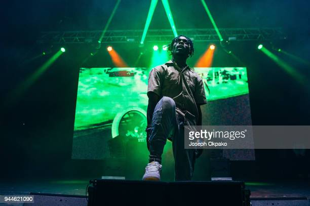 Lil Uzi Vert performs live on stage at O2 Academy Brixton on April 10 2018 in London England