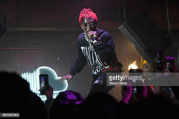 Lil Uzi Vert performs on stage as SoundCloud celebrates What's New Now and Next in Music at The Good Room on December 13 2017 in New York City
