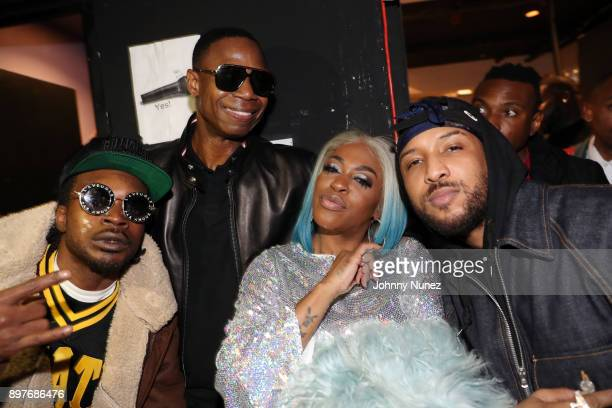 Lil Vicious Doug E Fresh Lil Mo and Ro James attend Highline Ballroom on December 22 2017 in New York City