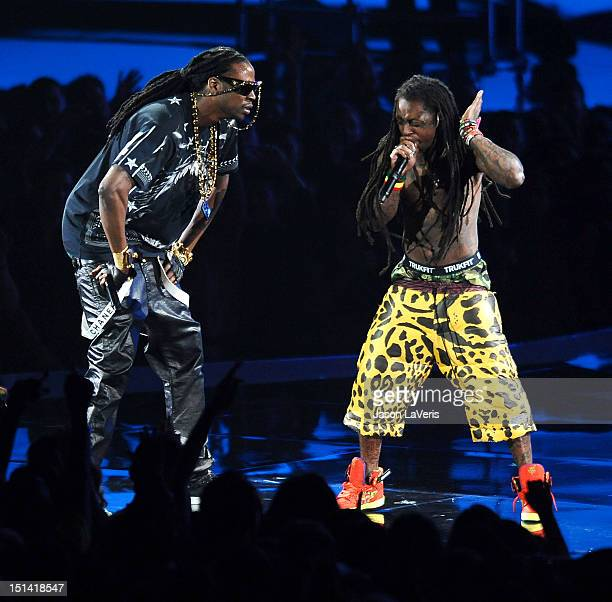Lil Wayne and 2 Chainz perform at the 2012 MTV Video Music Awards at Staples Center on September 6 2012 in Los Angeles California