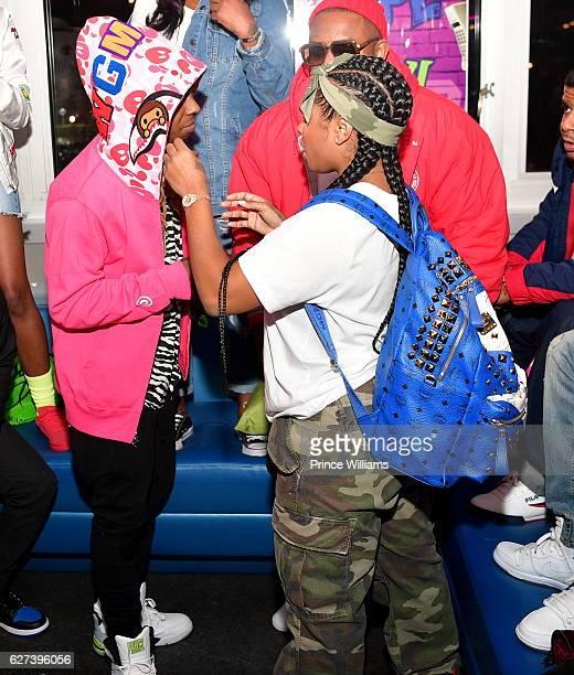 Lil Wayne and Antonia 'Toya' Wright attend Reginae Carters Birthday Party at Suite Lounge on December 2 2016 in Atlanta Georgia