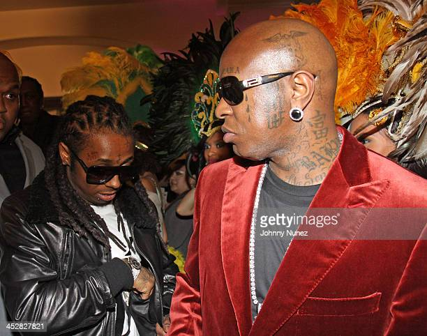 Lil Wayne and Birdman attend Cash Money's PreGrammy Party Honoring Lil Wayne at the Montage Hotel on February 7 2009 in Los Angeles California